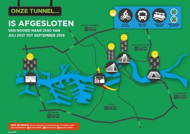 Maastunnel Renovatie bereikbaarheid informatie