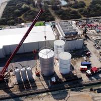 Bouw Demiwaterfabriek Evides Maasvlakte Industriewater
