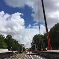 Bouw spoorlijn prorail hoekse waard rotterda, trein